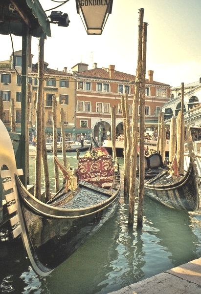 Gondola Stand, Venice, Italy