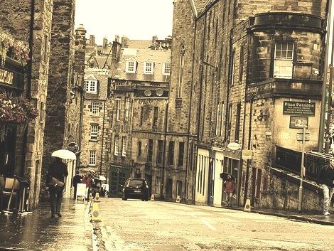 Rainy Day, Edinburgh, Scotland