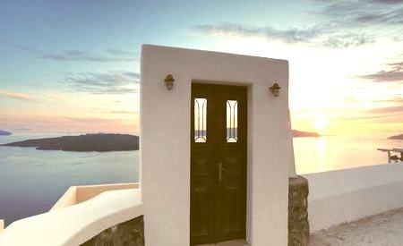 Doorway to Sunset, Santorini, Greece