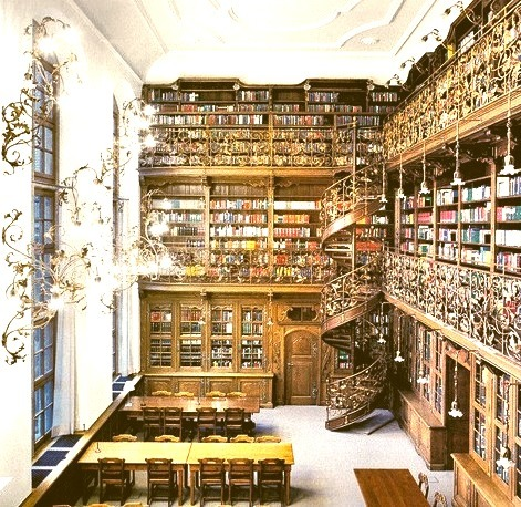 Spiral Staircase, Law Library, Munich, Germany