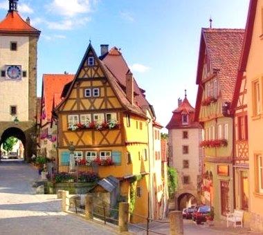 Colorful Village, Rothenburg, Germany