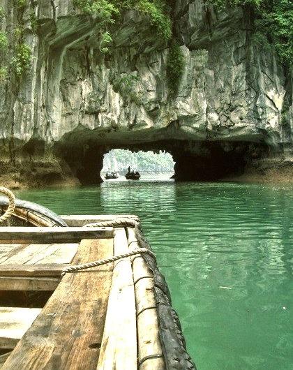 Rock tunnel, Phang-Nga Bay, Thailand.